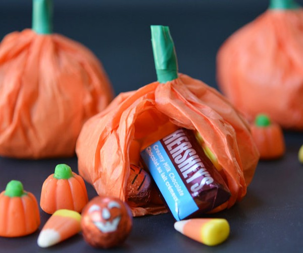 Tissue Paper Pumpkin Favours