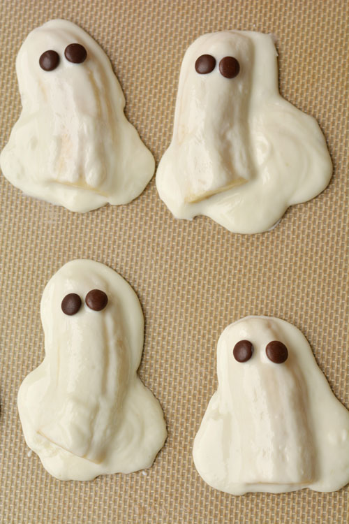 Chocolate Covered Banana Ghosts