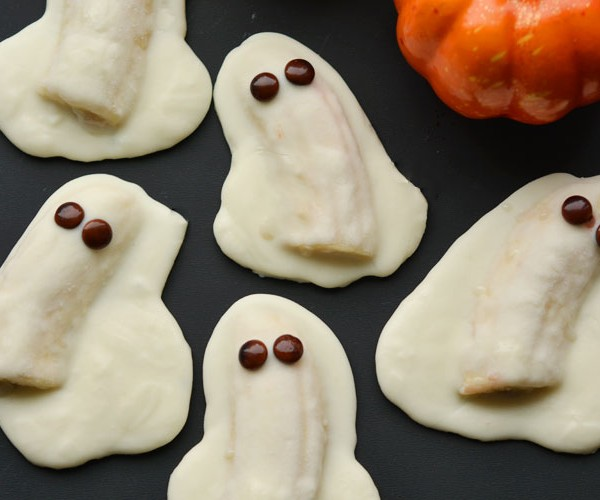 Chocolate Covered Banana Ghosts