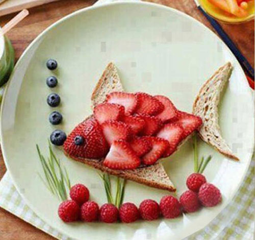 50+ Kids Food Art Lunches - Fruity Fish