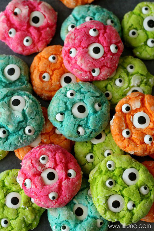 Halloween Food Ideas - Gooey Monster Eye Cookies