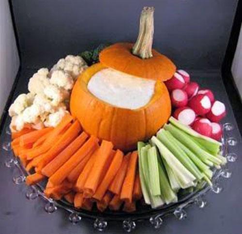 halloween food ideas pumpkin veggie platter