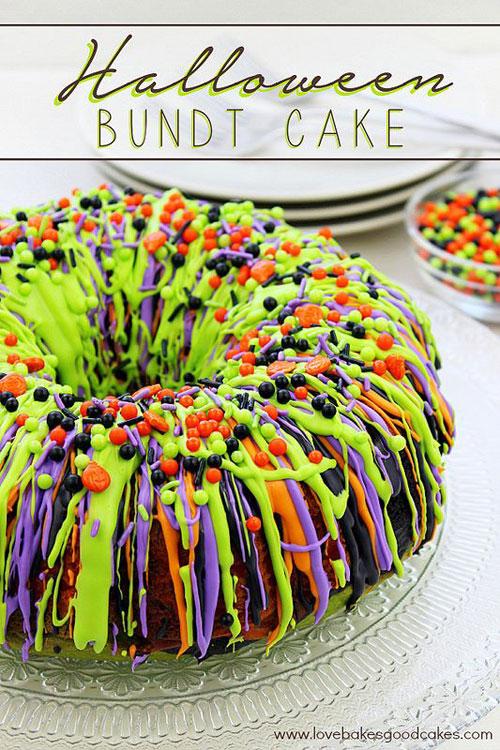 Halloween Food Ideas - Halloween Bundt Cake
