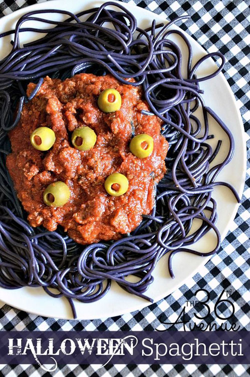 Halloween Food Ideas - Halloween Spaghetti