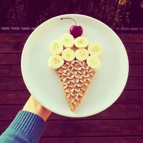 50+ Kids Food Art Lunches - Ice Cream Sundae