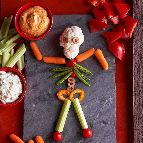 Halloween Food Ideas - Mr. Bones and Double Dips