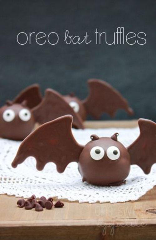Halloween Food Ideas - Oreo Bat Truffles