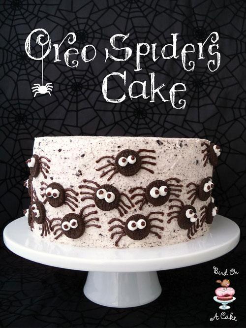Halloween Food Ideas - Oreo Spiders Cake