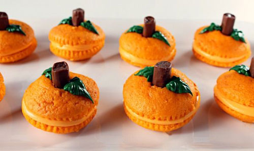 Halloween Food Ideas - Pumpkin Patch Cupcake Poppers