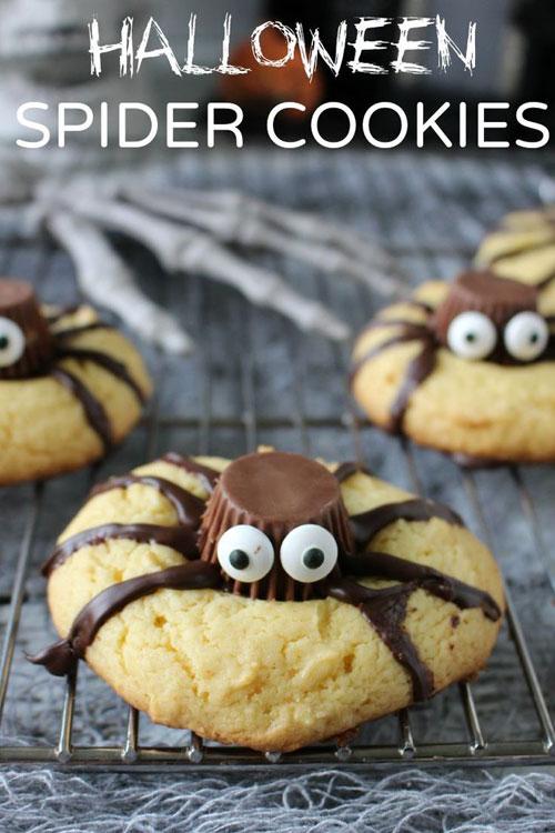 Halloween Food Ideas - Spider Cookies