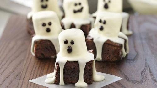 Halloween Food Ideas - Spooky Boo Brownies