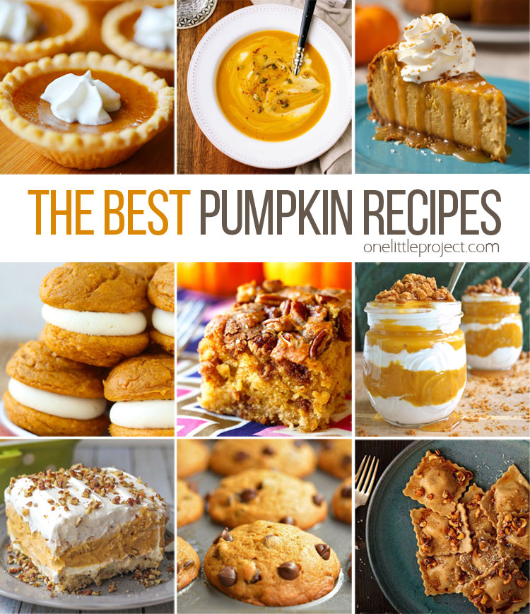 This list has me inspired! Pie, soup, cookies, bread, pasta - almost anything you can think of and there is a great recipe!