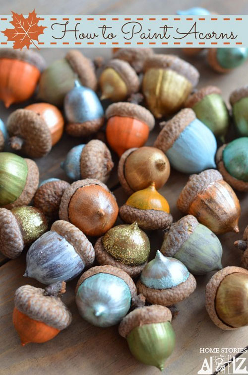 Fall Crafts for Kids - Acorn Painting Craft