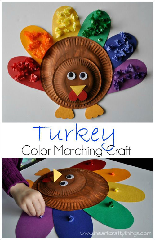 Fall Crafts for Kids - Alphabet Turkey Match