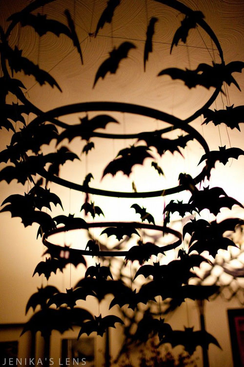 halloween party ideas for adults bat chandelier