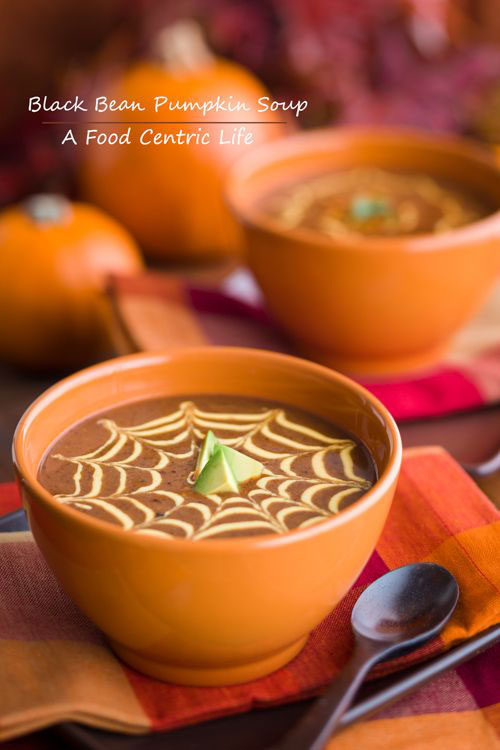 Halloween Party Ideas for Adults - Black Bean and Pumpkin Soup