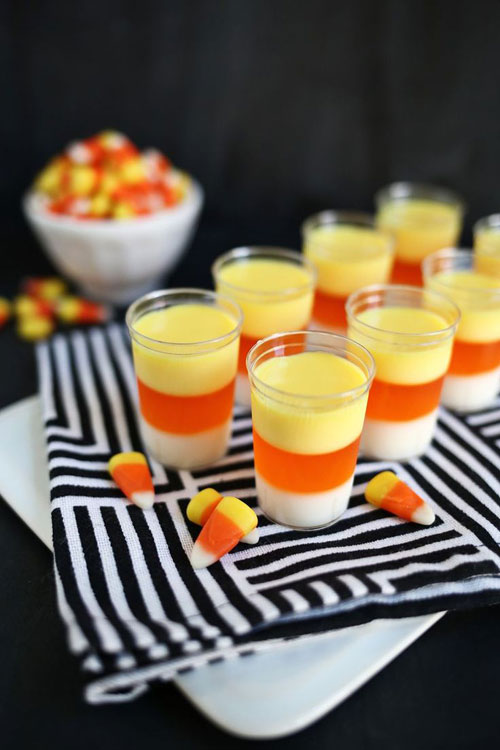 Halloween Party Ideas for Adults - Candy Corn Jello Shots