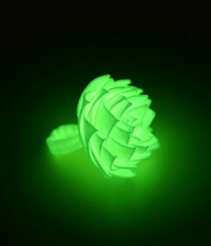 Glow in the Dark Duct Tape Flower Ring