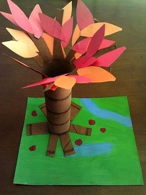 Fall Crafts for Kids - Fall Tree Craft