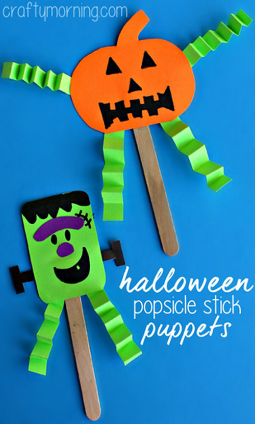 pumpkin bag puppet