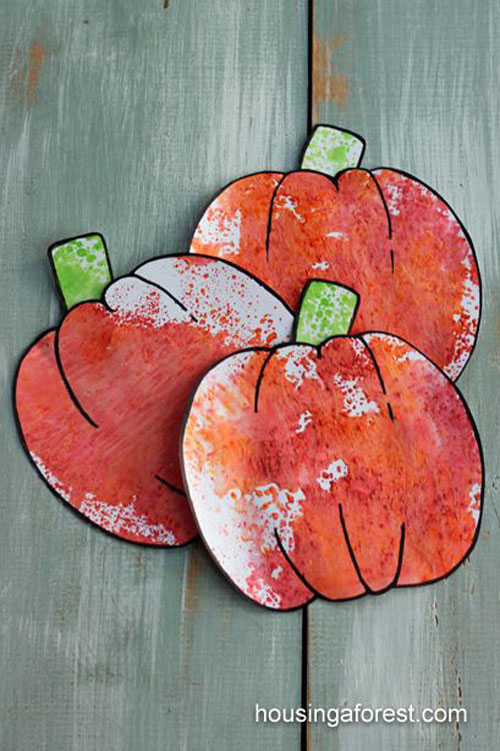 Fall Crafts for Kids - Kool Aid Pumpkins