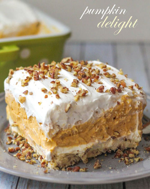 50+ Best Pumpkin Recipes - Layered Pumpkin Dessert