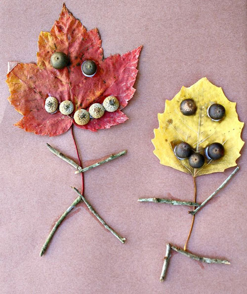 Fall Crafts for Kids - Leaf People Fall Craft