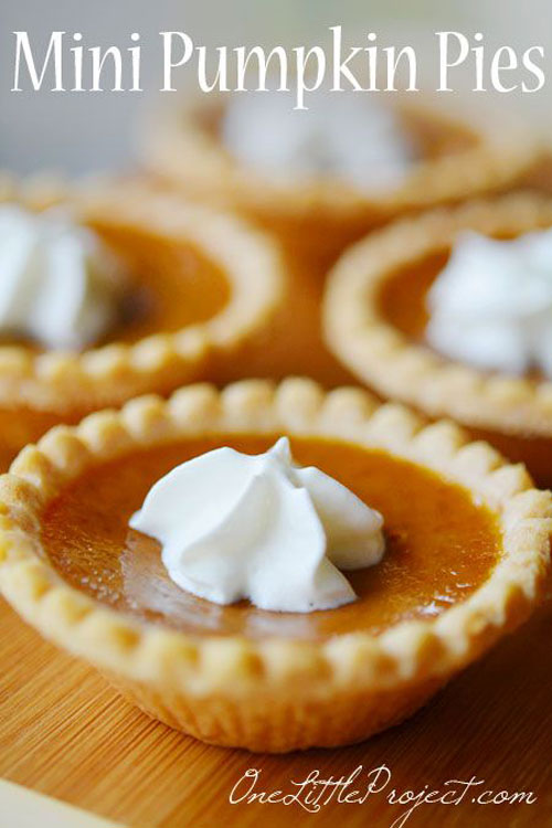 50+ Best Pumpkin Recipes - Mini Pumpkin Pies