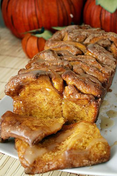 50+ Best Pumpkin Recipes - Pull Apart Cinnamon Sugar Pumpkin Bread