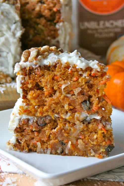50+ Best Pumpkin Recipes - Pumpkin Carrot Cake