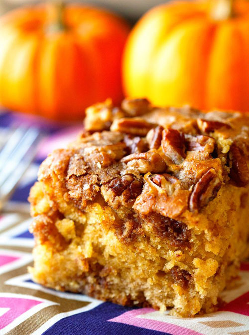 50+ Best Pumpkin Recipes - Pumpkin Coffee Cake