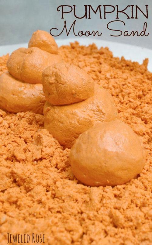 Fall Crafts for Kids - Pumpkin Moon Sand Recipe