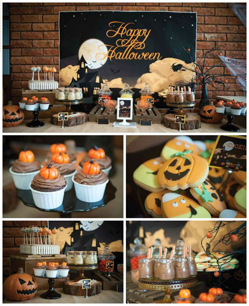 Halloween Party Ideas for Adults - Pumpkin Patch Halloween Dessert Table