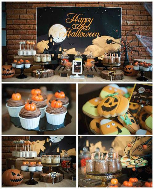 Halloween Party Ideas for Adults - Pumpkin Patch Halloween Dessert Table
