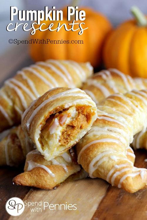 50+ Best Pumpkin Recipes - Pumpkin Pie Crescents