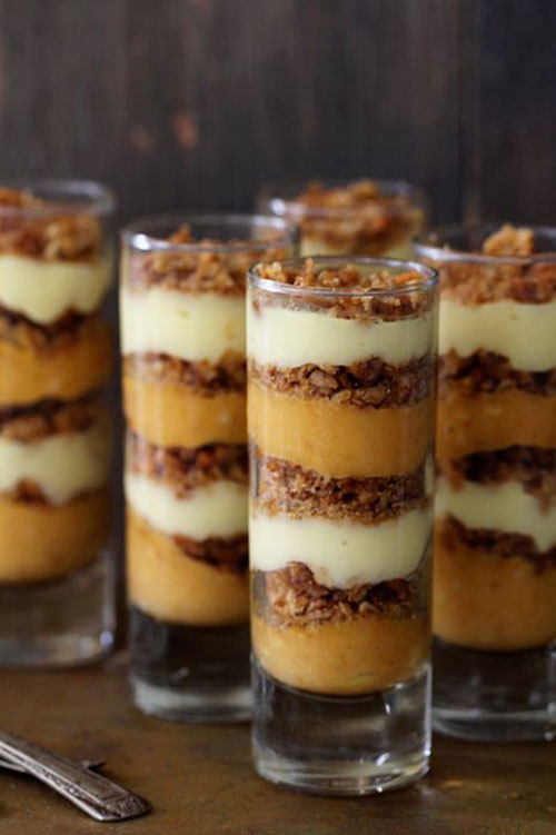 50+ Best Pumpkin Recipes - Pumpkin Praline Trifle