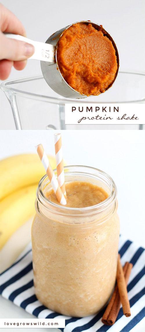 50+ Best Pumpkin Recipes - Pumpkin Protein Shake