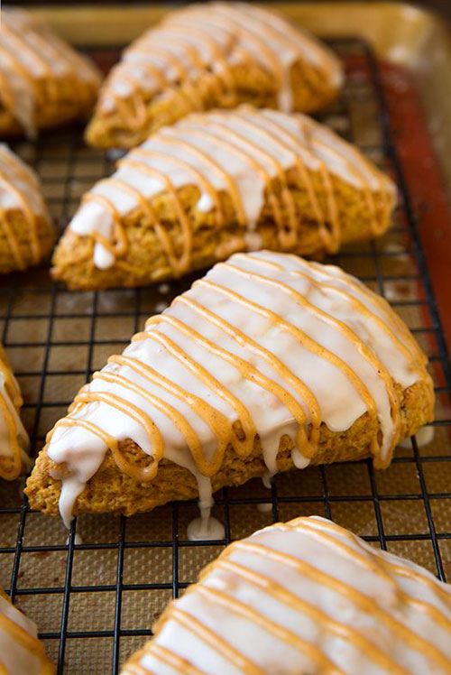 50+ Best Pumpkin Recipes - Pumpkin Scones (Starbucks Copycat)