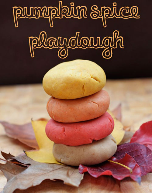 Fall Crafts for Kids - Pumpkin Spice Playdough