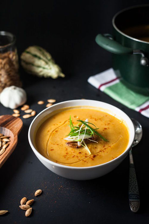 50+ Best Pumpkin Recipes - Roasted Garlic, Pumpkin and Leek Soup