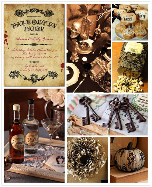 Halloween Party Ideas for Adults - Vintage Halloween Party Inspiration Board