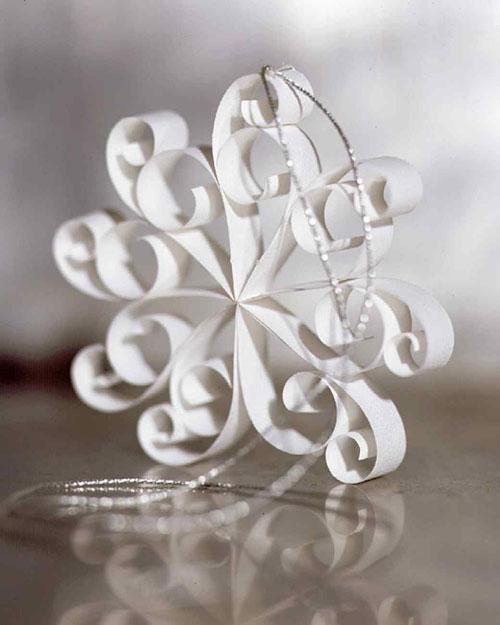 38 Handmade Christmas Ornaments - 3D Doily Ornaments