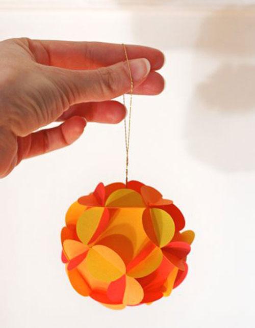 38 Handmade Christmas Ornaments - 3D Paper Ball Ornaments