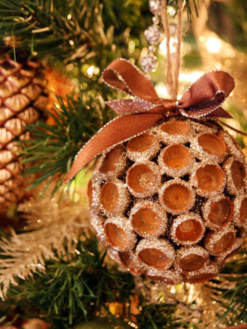38 Handmade Christmas Ornaments - Acorn Ornament