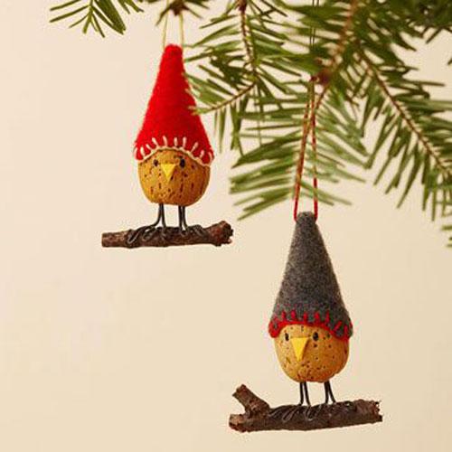 38 Handmade Christmas Ornaments - Almond Bird Christmas Ornament