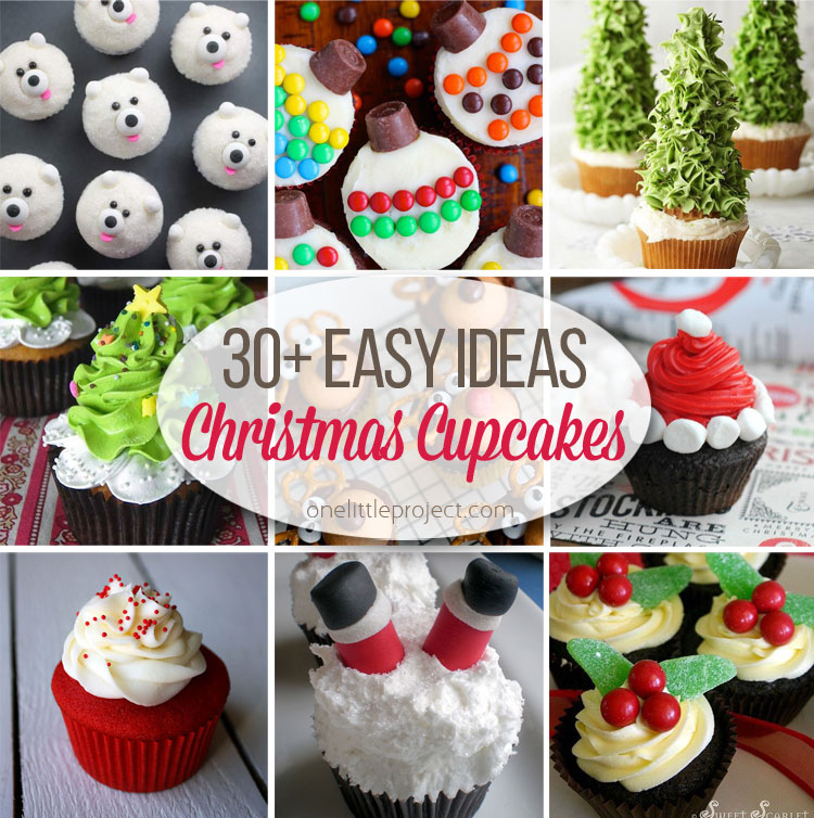 Wonderful Holiday Cupcakes Decorating Ideas Part - 4: One Little Project