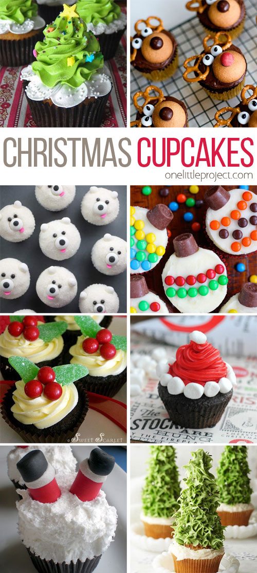 These Christmas cupcakes are totally doable! And theyu0027re SO CUTE! I can  sc 1 st  One Little Project & 30+ Easy Christmas Cupcake Ideas