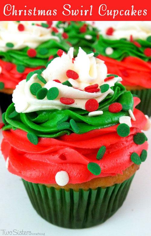 30 Easy Christmas Cupcake Ideas