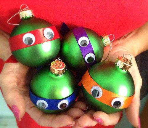 38 Handmade Christmas Ornaments - DIY Ninja Turtle Ornaments