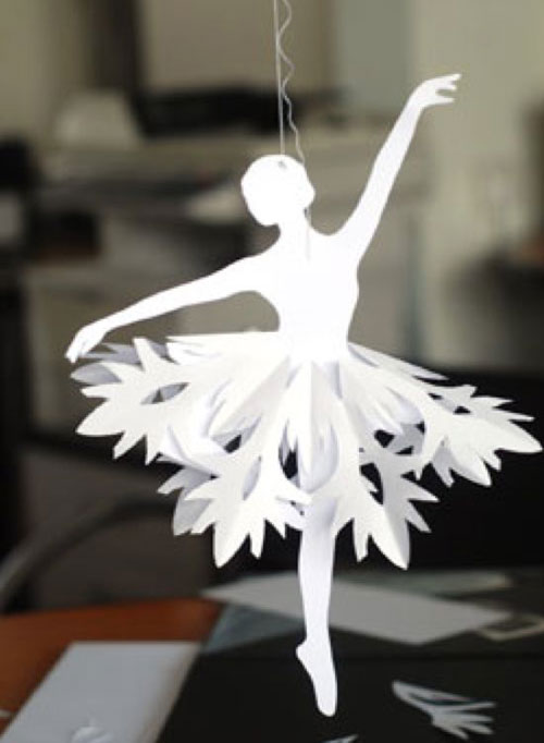 38 handmade christmas ornaments diy paper snowflake ballerinas - Handmade Paper Christmas Decorations